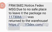 Text FedEx scams