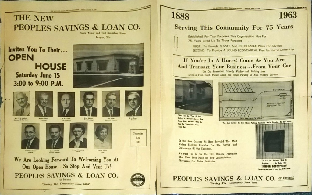 a Picture of full paper spread for open house 1963